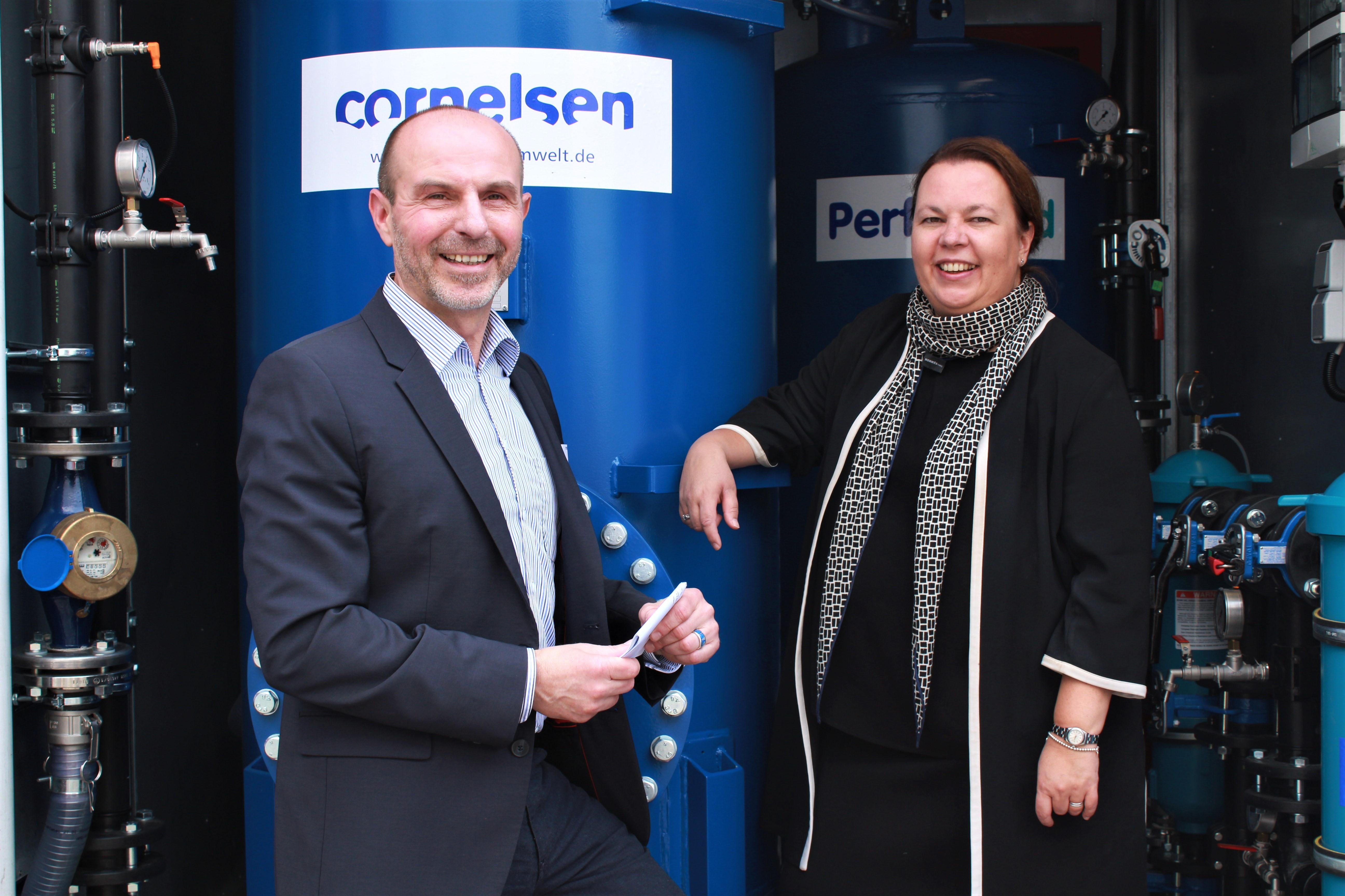 Inbetriebnahme der Mobilen Löschwasser-Behandlungsanlage durch Frau Ministerin Ursula Heinen-Esser