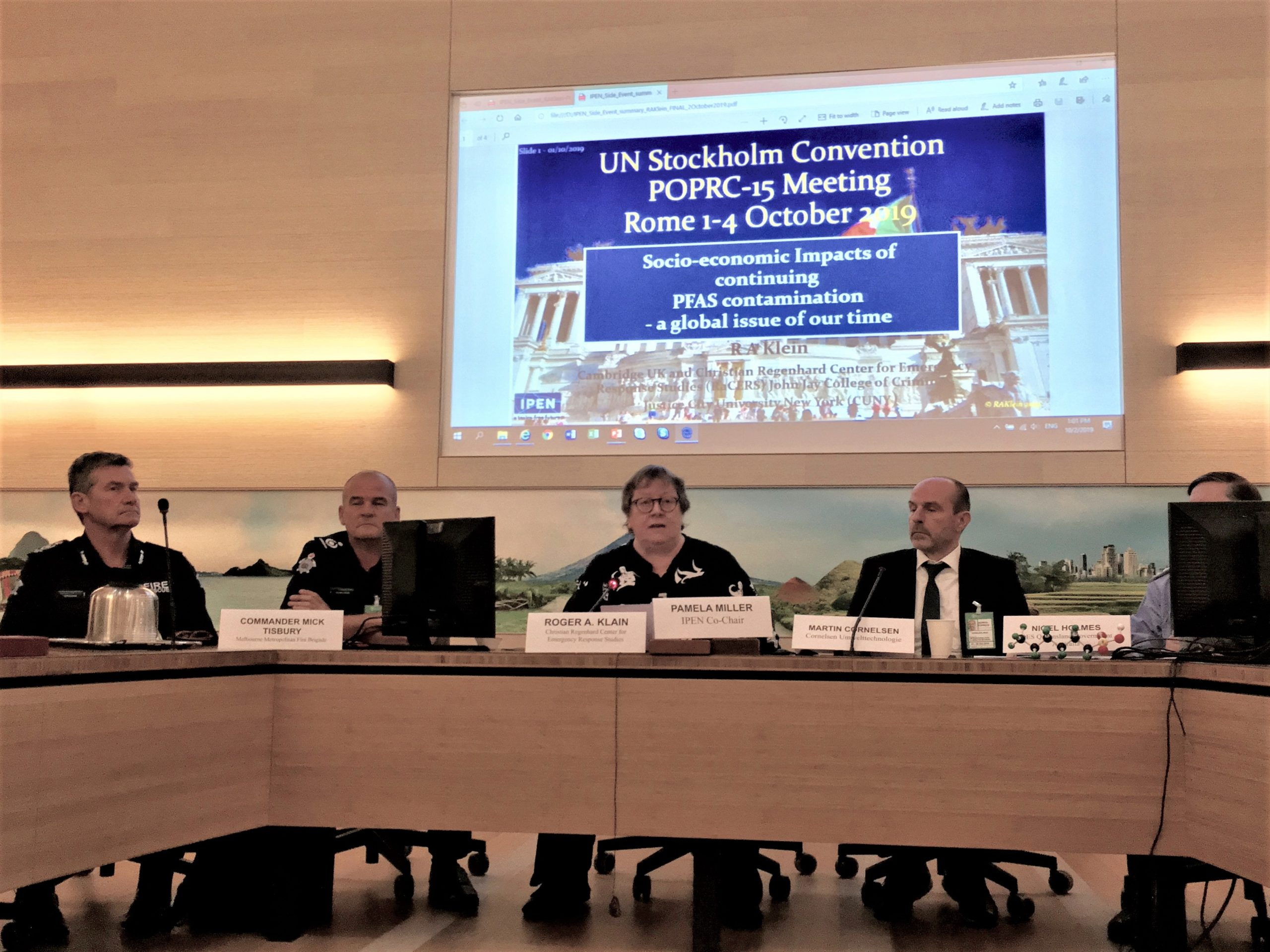 UN-Stockholm Convention POPRC-15 MEETING ROME 1 – 4 Oktober 2019