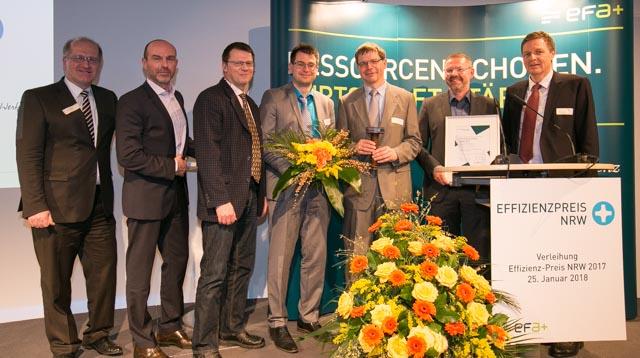 Preisverleihung des Effizienz-Preises 2017 der Effizienz Agentur NRW (EFA)